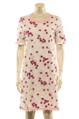 648c4895df26 Natkjole med rosa og pink blomster