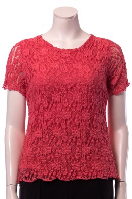 Blonde t-shirt i coral
